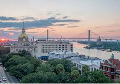 Savannah at dusk