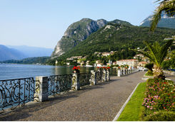 Waterfront in town of Menaggio on Lake Como
