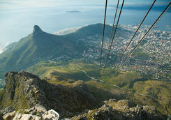 Top down view of Table Mountain