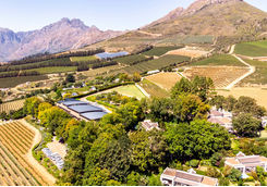 Top view from Winelands in South Africa