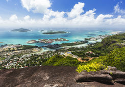 Top view of the Seychelles