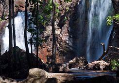 Waterfall nestled in the rainforest of Kakadu National Park