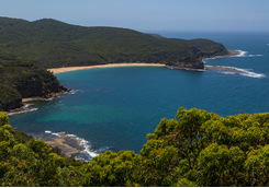 Aerial view of Bouddi National Park