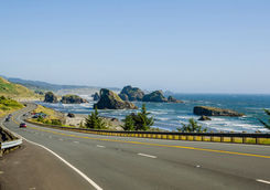 Coastal road in Oregon