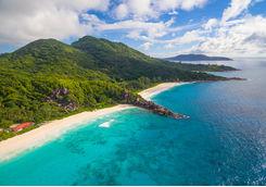 La Digue Island Coastline