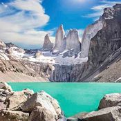 Torres del Paine ice lake