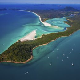 Aerial view of the Whitsundays