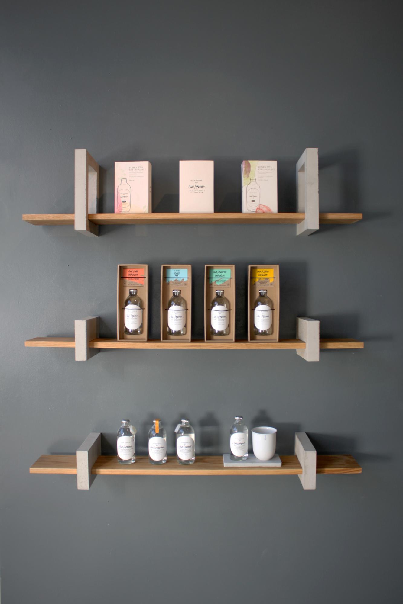 Shelf inside