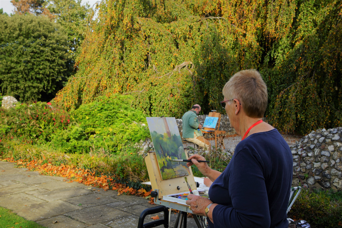 Paint Out Plantation Garden, Norwich 2019