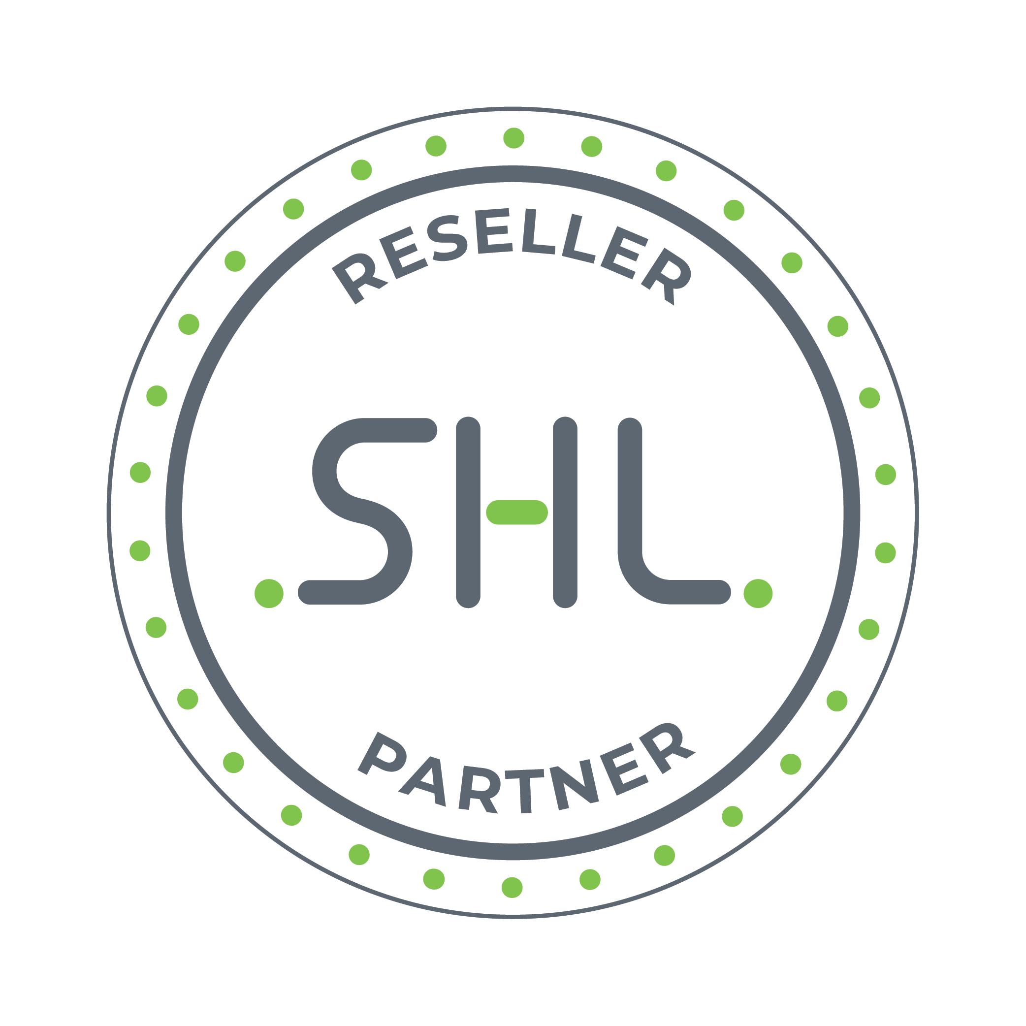 The SHL Reseller Partner logo