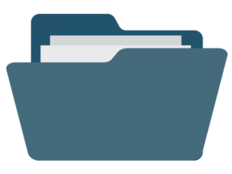 An illustration of a folder with files in