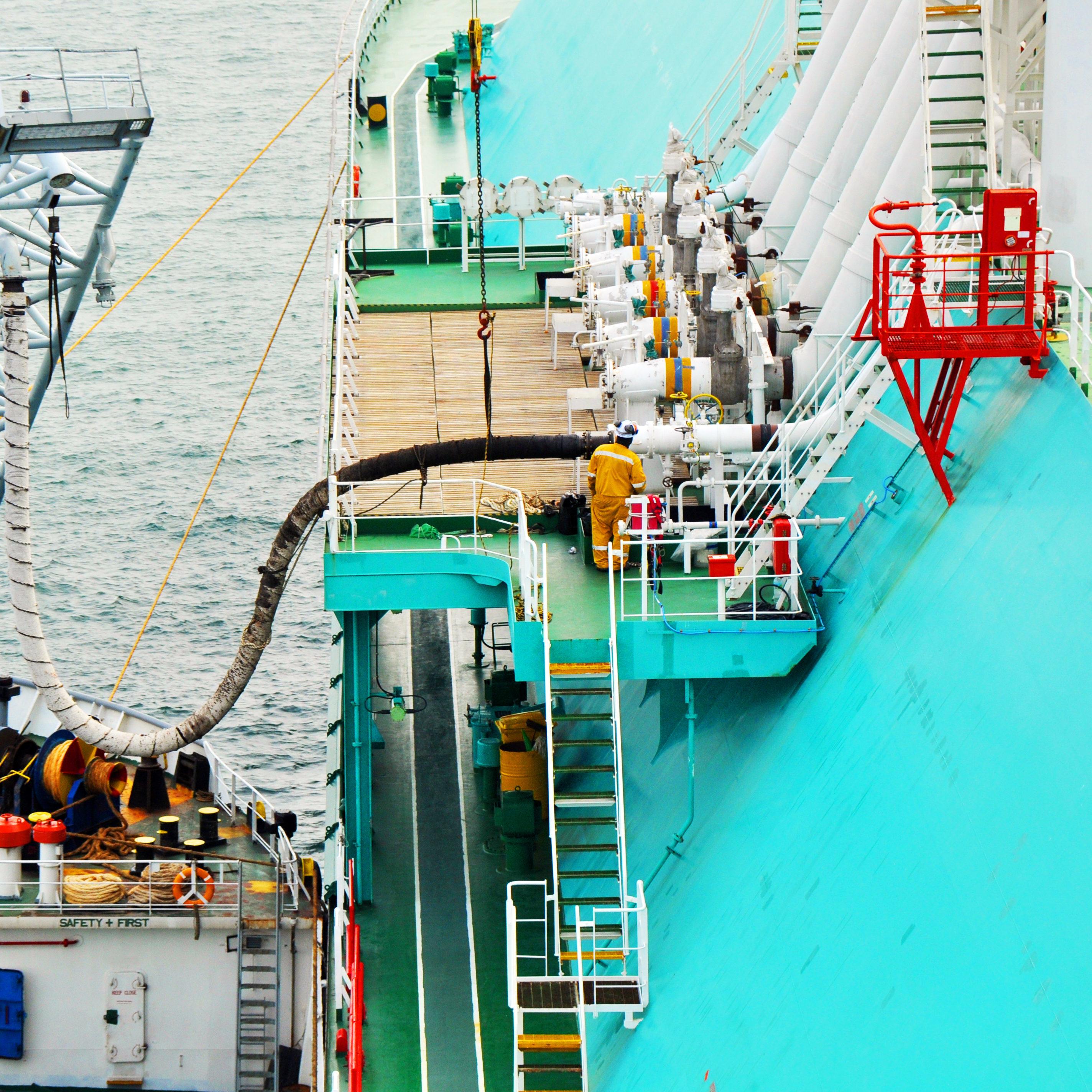Loading crude oil