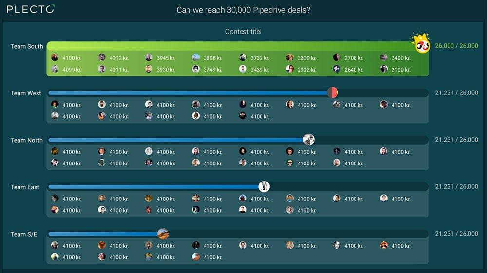 Groups contests screenshot