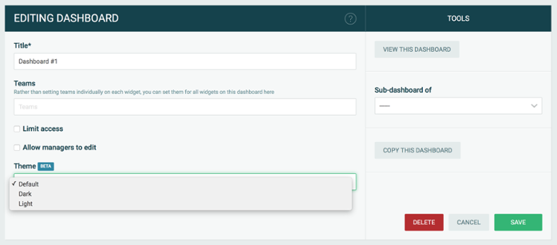 Screenshot of the selection in Plecto admin