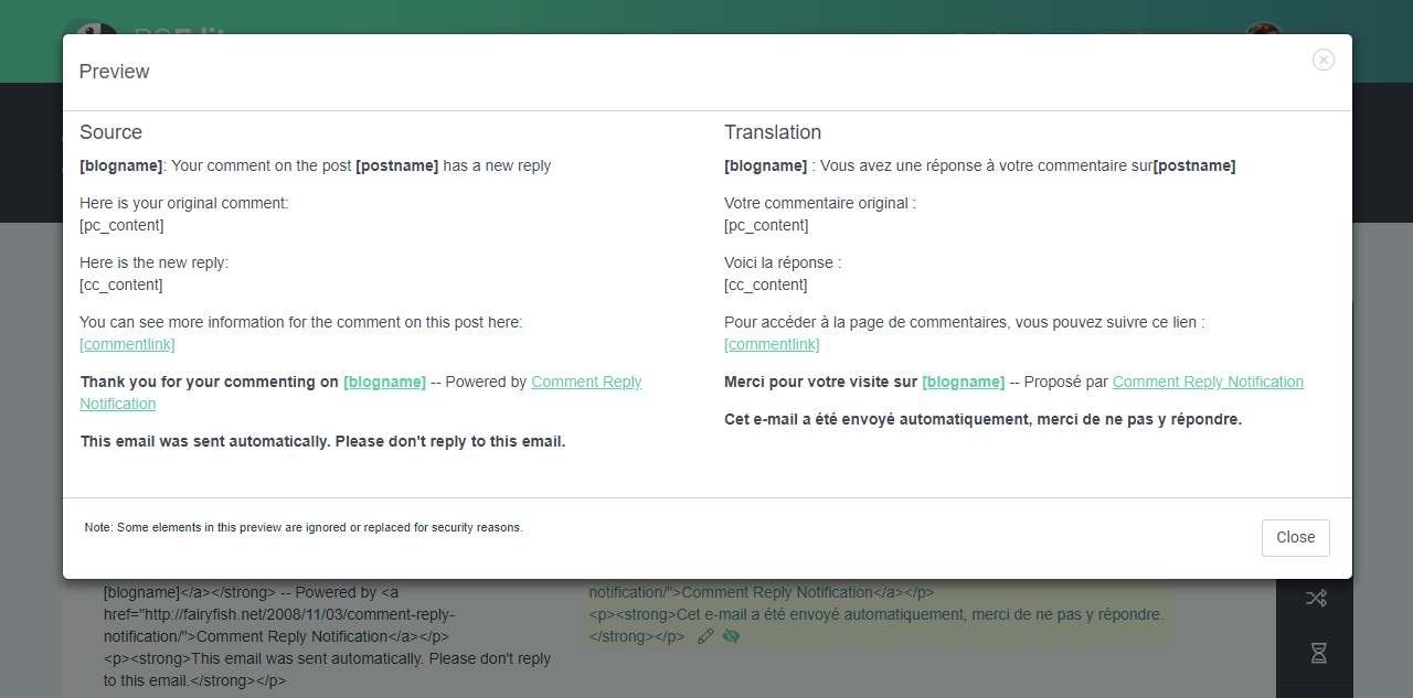 HTML preview (Language page) - POEditor localization management system