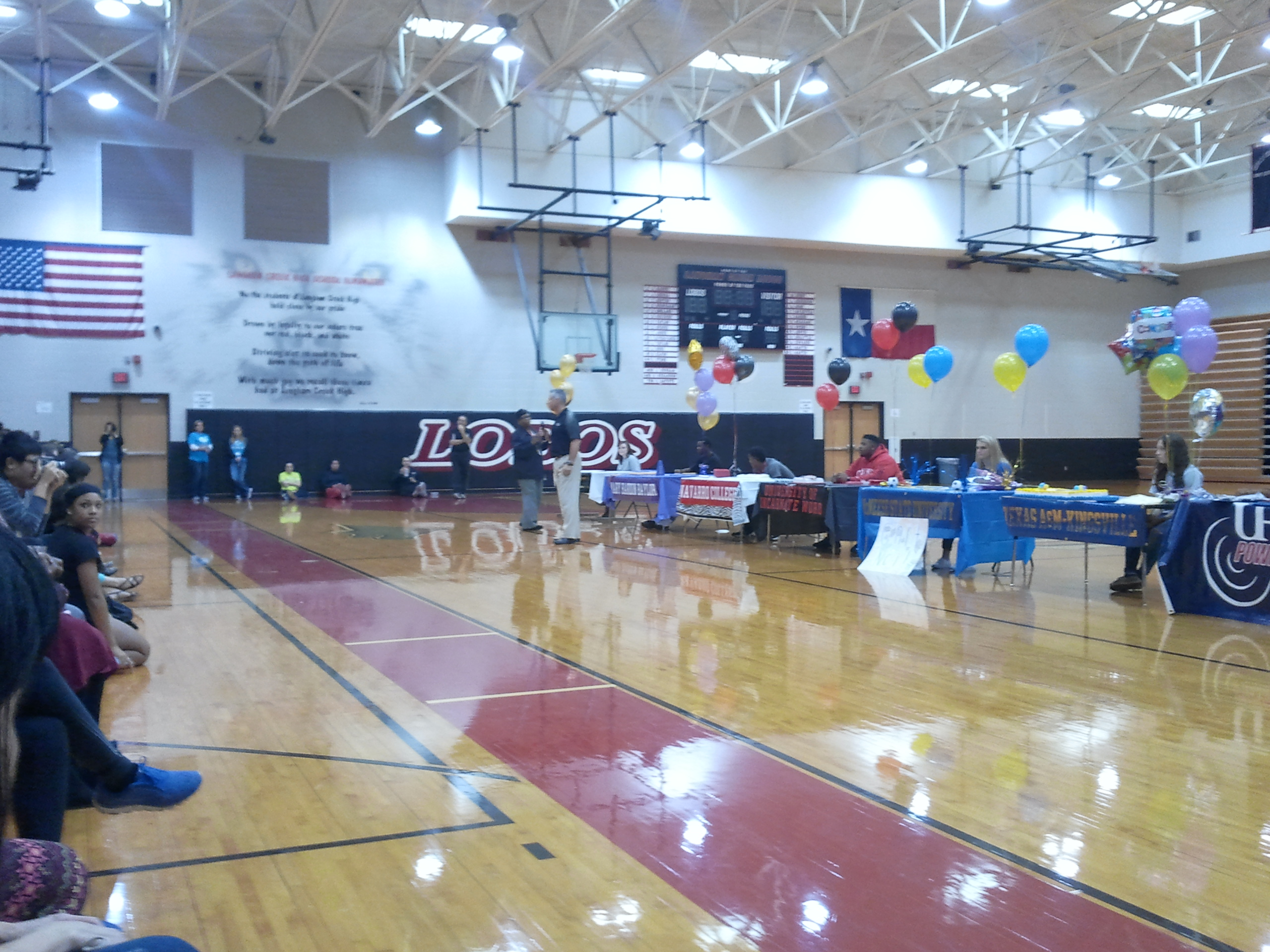 UHD Powerlifting at Langham Creek High School for Signing Day.