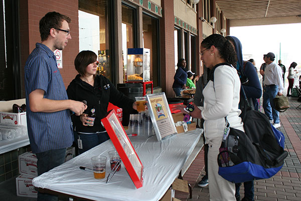 Students, faculty and staff enjoy crawfish, music and St. Arnold Beer at Bayou Bash.