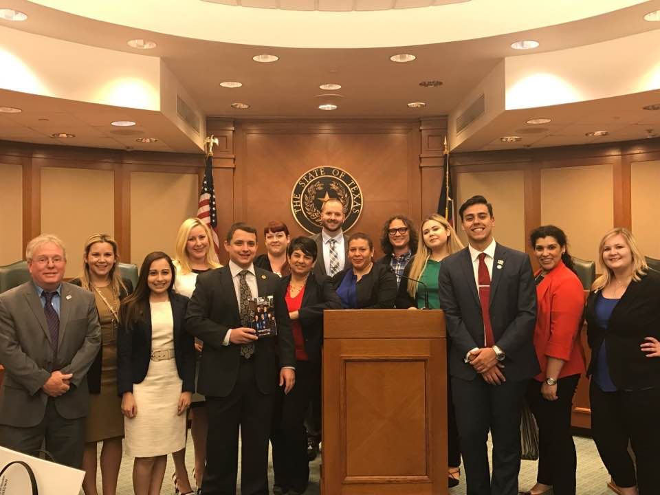 Briscoe Cain and UHD constituents during their trip to the Capitol.
