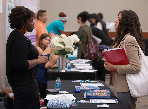 Students attend the job fair