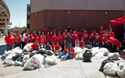 Environmental Club at Ed's Bayou Clean-Up.