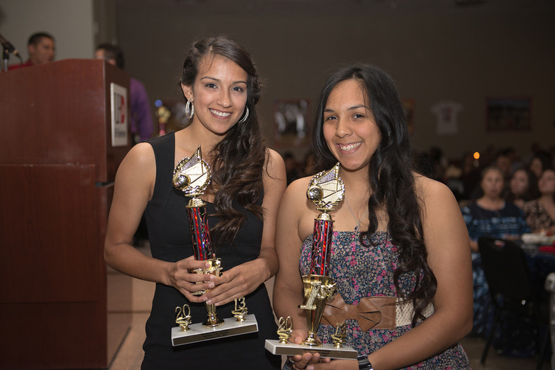 Coryn Wolf and Yolanda Meledez at the banquet.