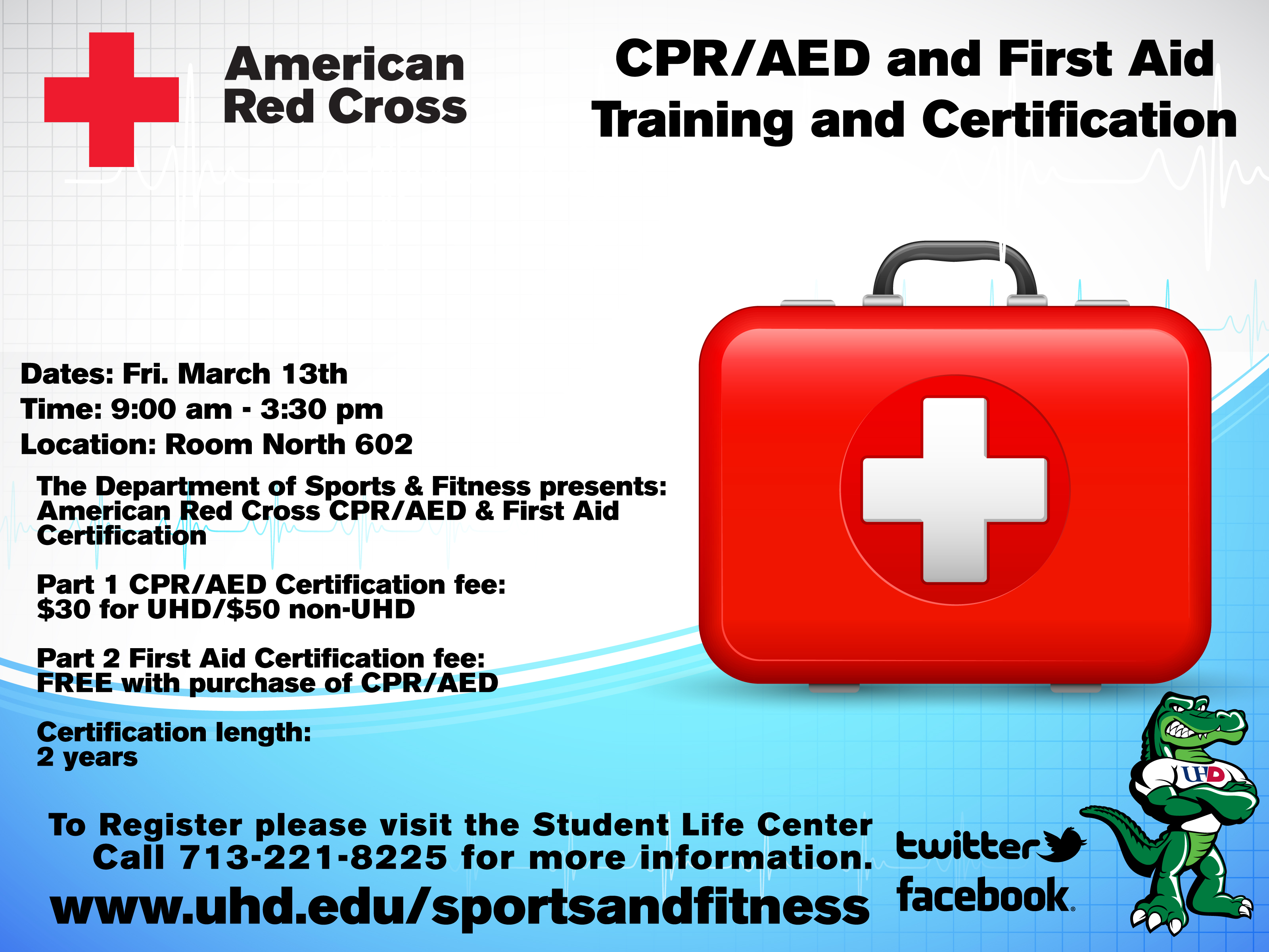 On Campus Cpr First Aid Training Offered March 13