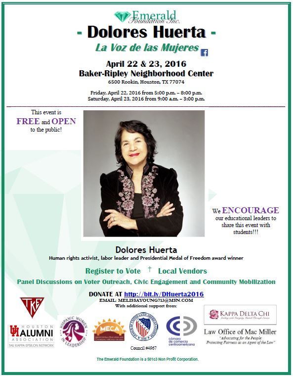 Dolores Huerta Flyer (4 06 2016)