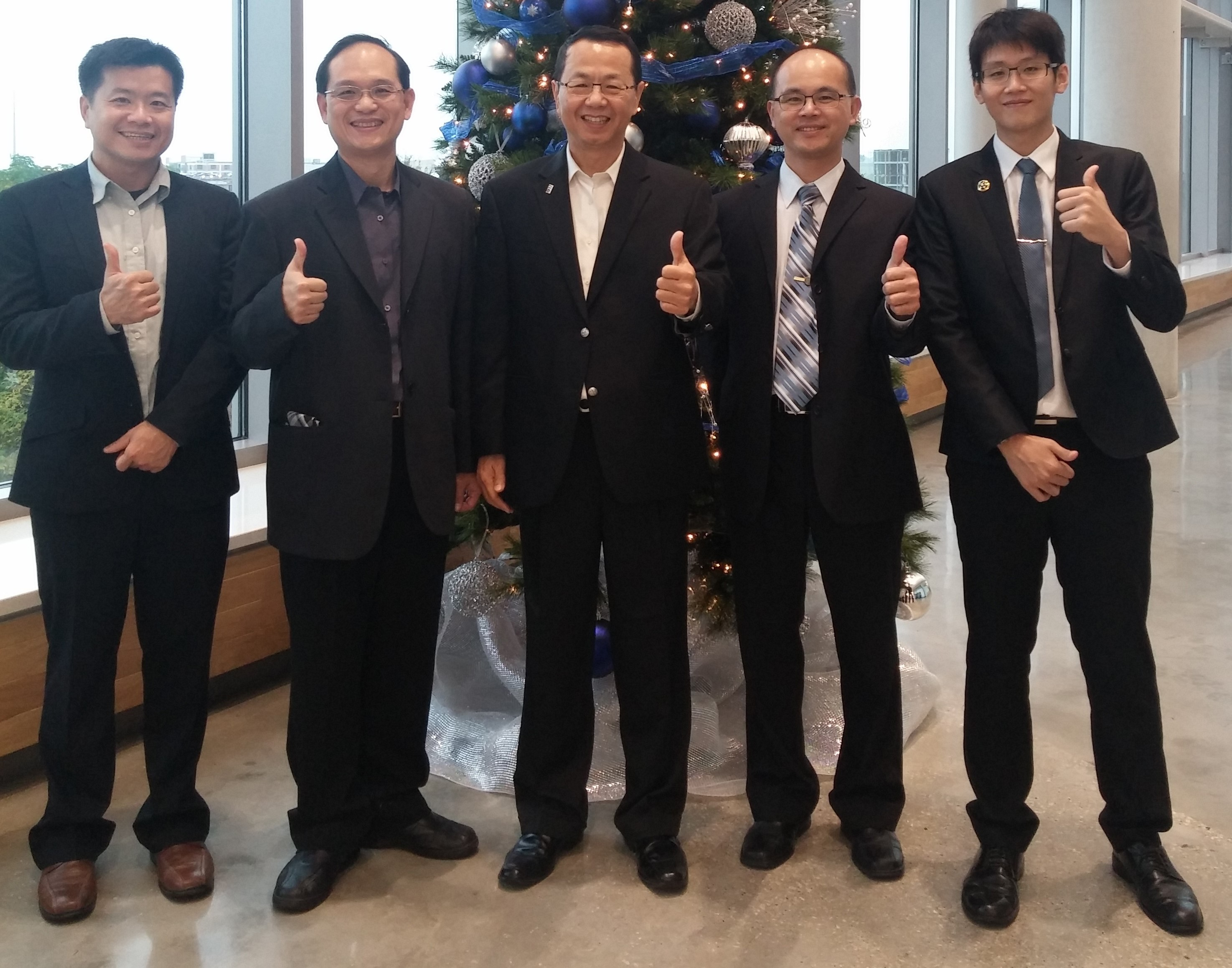 Dr. Hsiao-Ming Wang and Taiwanese correction officers and CPU professor
