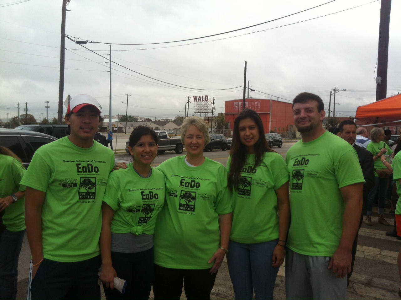Kelvin Dangtran, Alejandra Lucio, Houston Mayor Annise Parker, Michellee Gutierrez, Samuel Swift