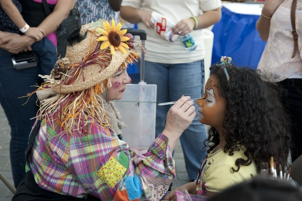 Kids enjoyed getting their faces painted.