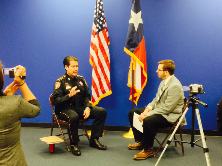 CJ students interview Sheriff Garcia