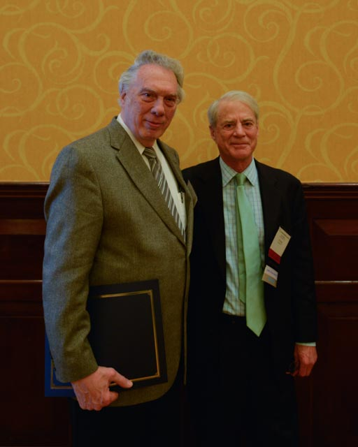 UHD professor Garna Christian, left, stands with Torch Energy President J.P. Bryan, namesake for the Association's Leadership in Education Award.