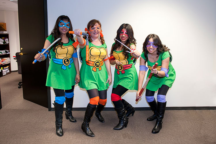 Halloween Staff Costumes - Ninja Turtles