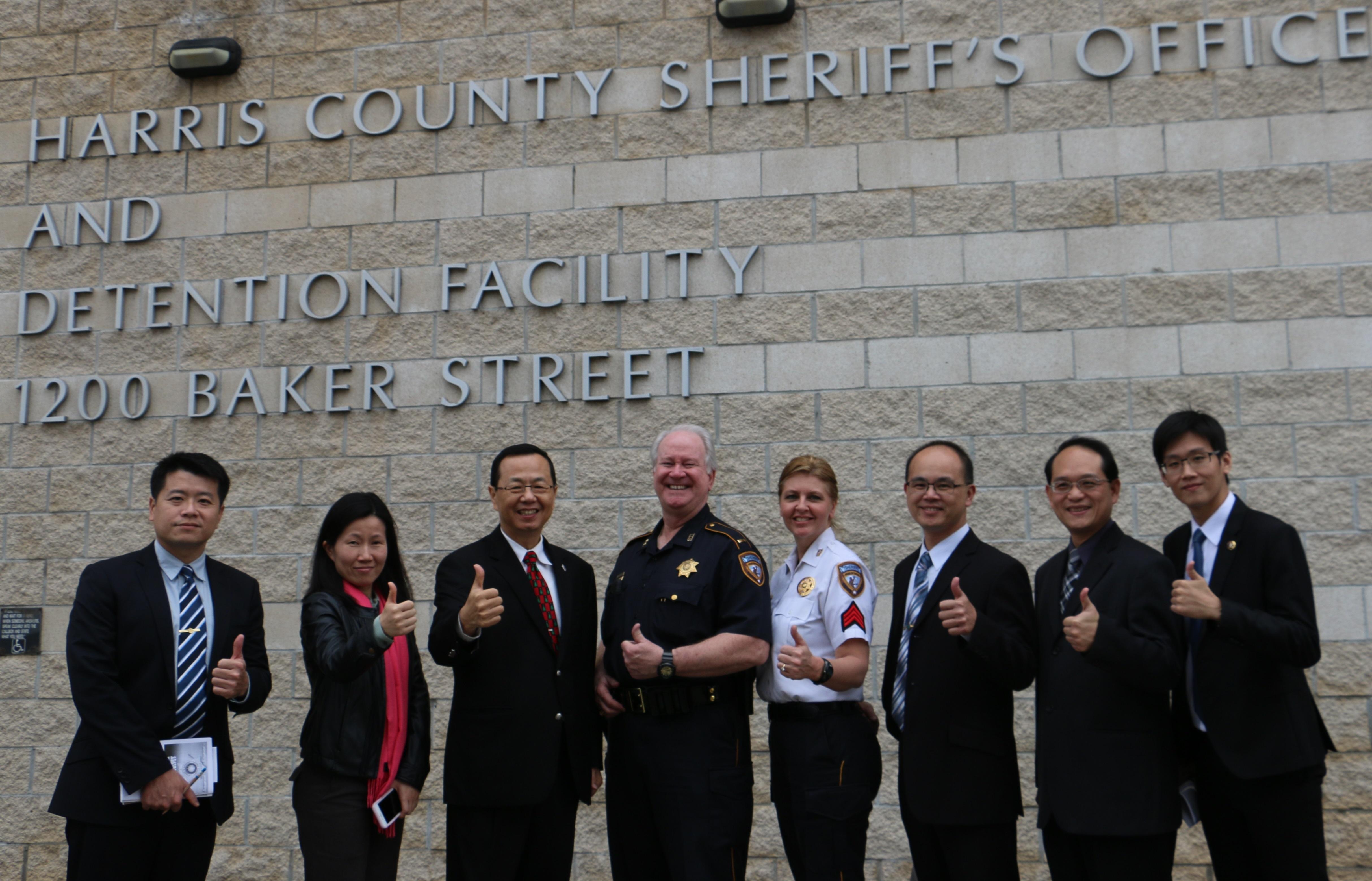 Jail tour group photo.