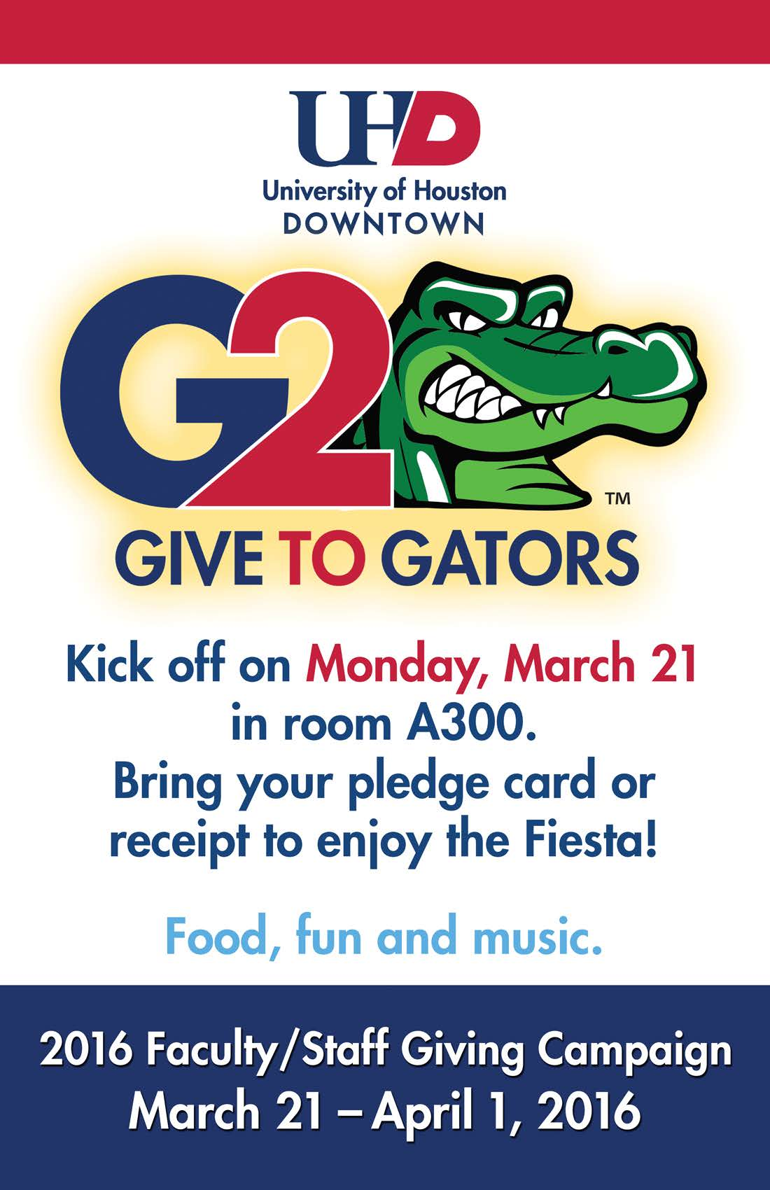 Faculty Staff Invited To Join Give To Gators Kick Off Party