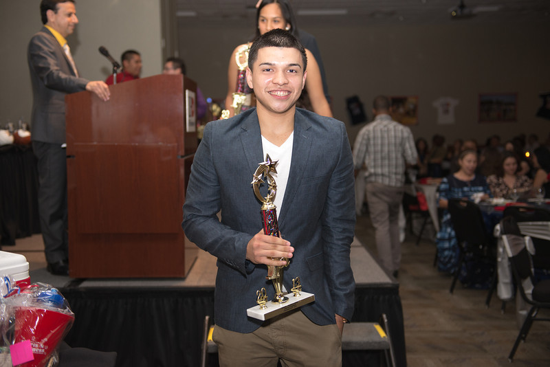Mark Martinez poses with his award.