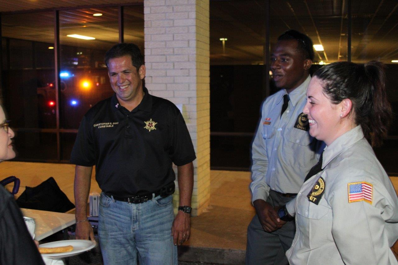 University of Houston-Downtown Criminal Justice students volunteer at National Night Out event.