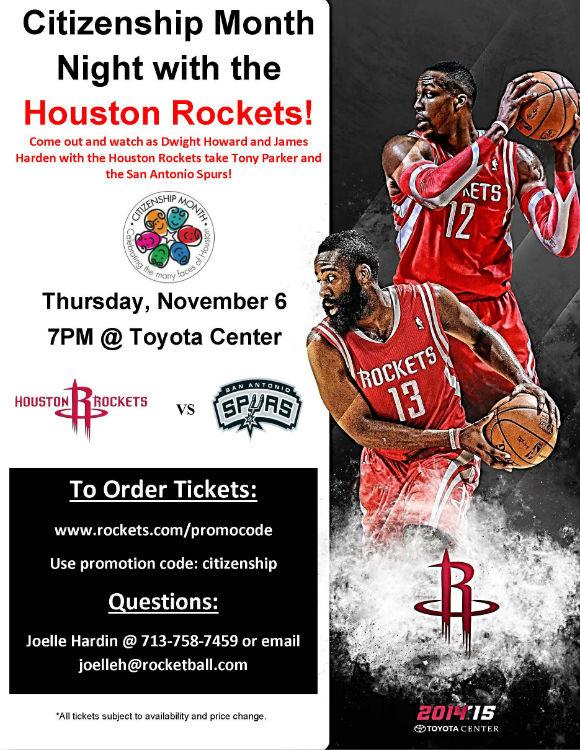 Houston Rockets Citizenship Month 2014
