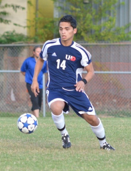 UHD's Kelvin Rodriquez controls the midfield.