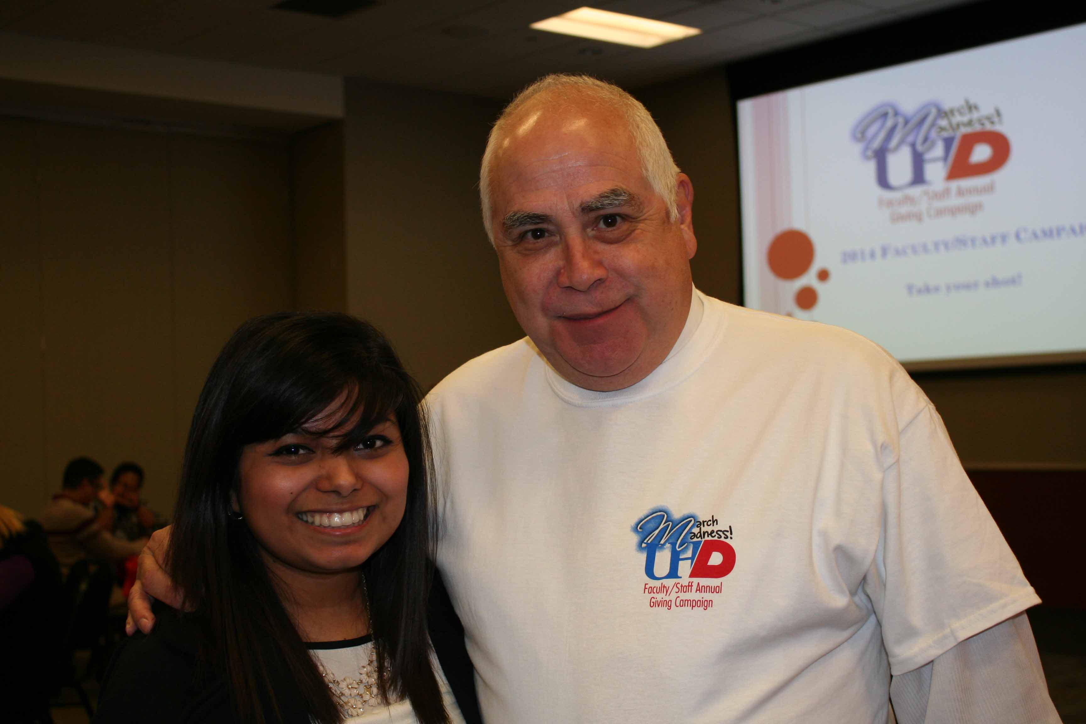 Dr. Flores with student Stefani Rodriguez, honorary co-chair.