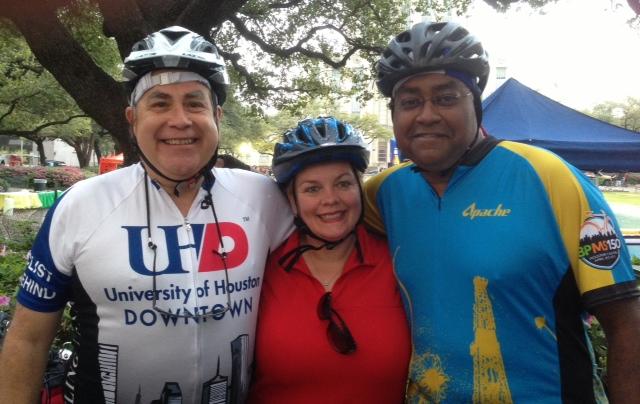 President Flores, Dr. Noel Bezette-Flores, Senator Rodney Ellis