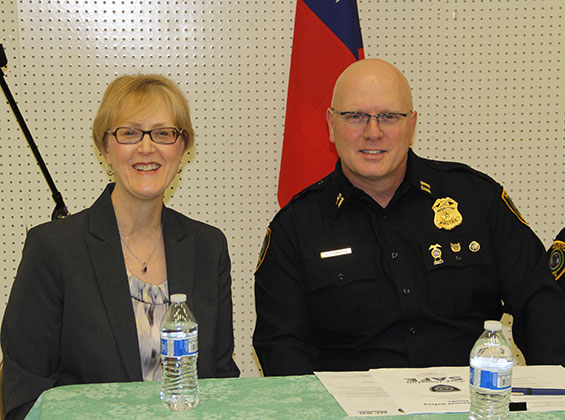 Barbara Belbot, chair of criminal justice at UHD, served as a panelist with Gregory Fremin, HPD captain and current UHD criminal justice graduate student.