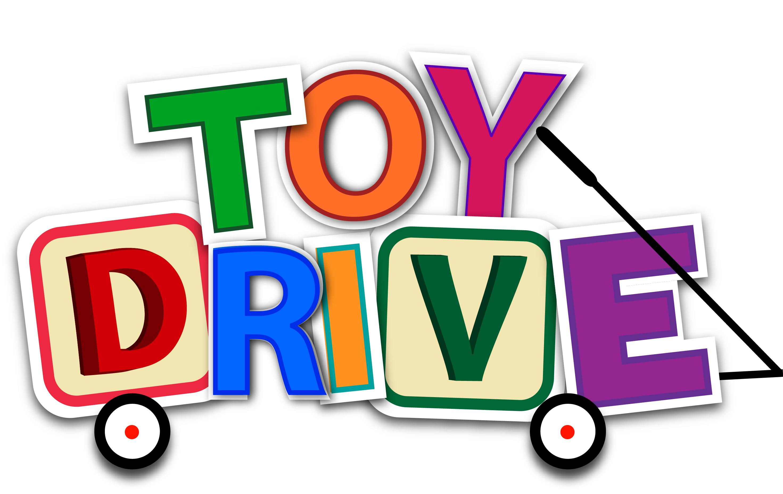 A toy drive logo