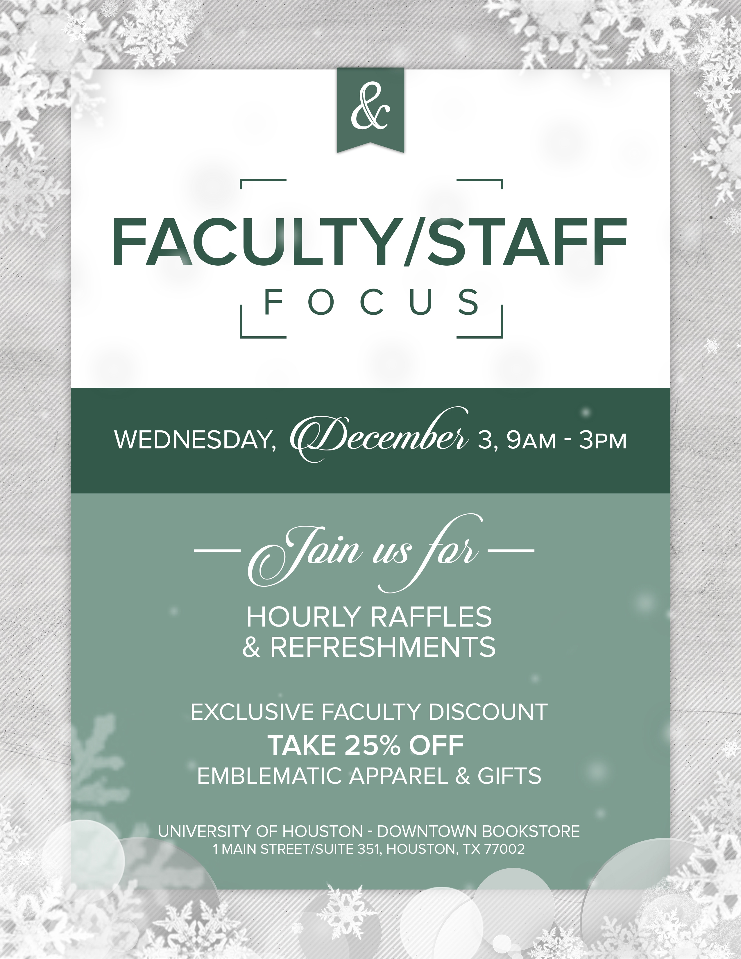 UHD Bookstore Faculty_Staff focus flyer (2)