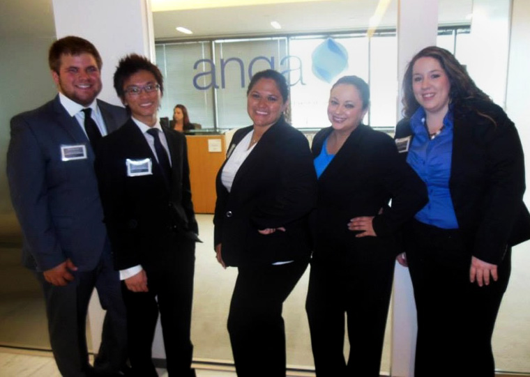 (From left to right) UHD marketing students Cord Longenberger, Ming Chau, Stefanie Munoz, Casey Cavazos and Jacquelyn Heathcock recently earned second place in America's Natural Gas Alliance (ANGA) Collegiate Energy Challenge in Washington, D.C.