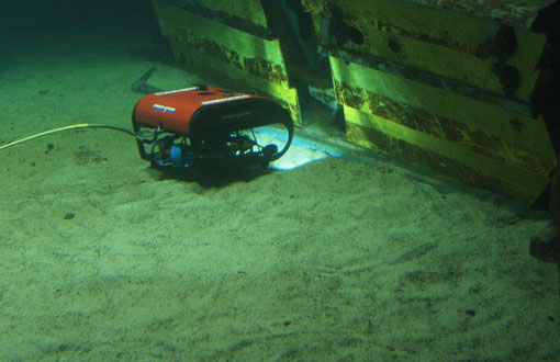 Predator remotely operated vehicle collecting data from the seafloor that can be used as the basis for management decisions.