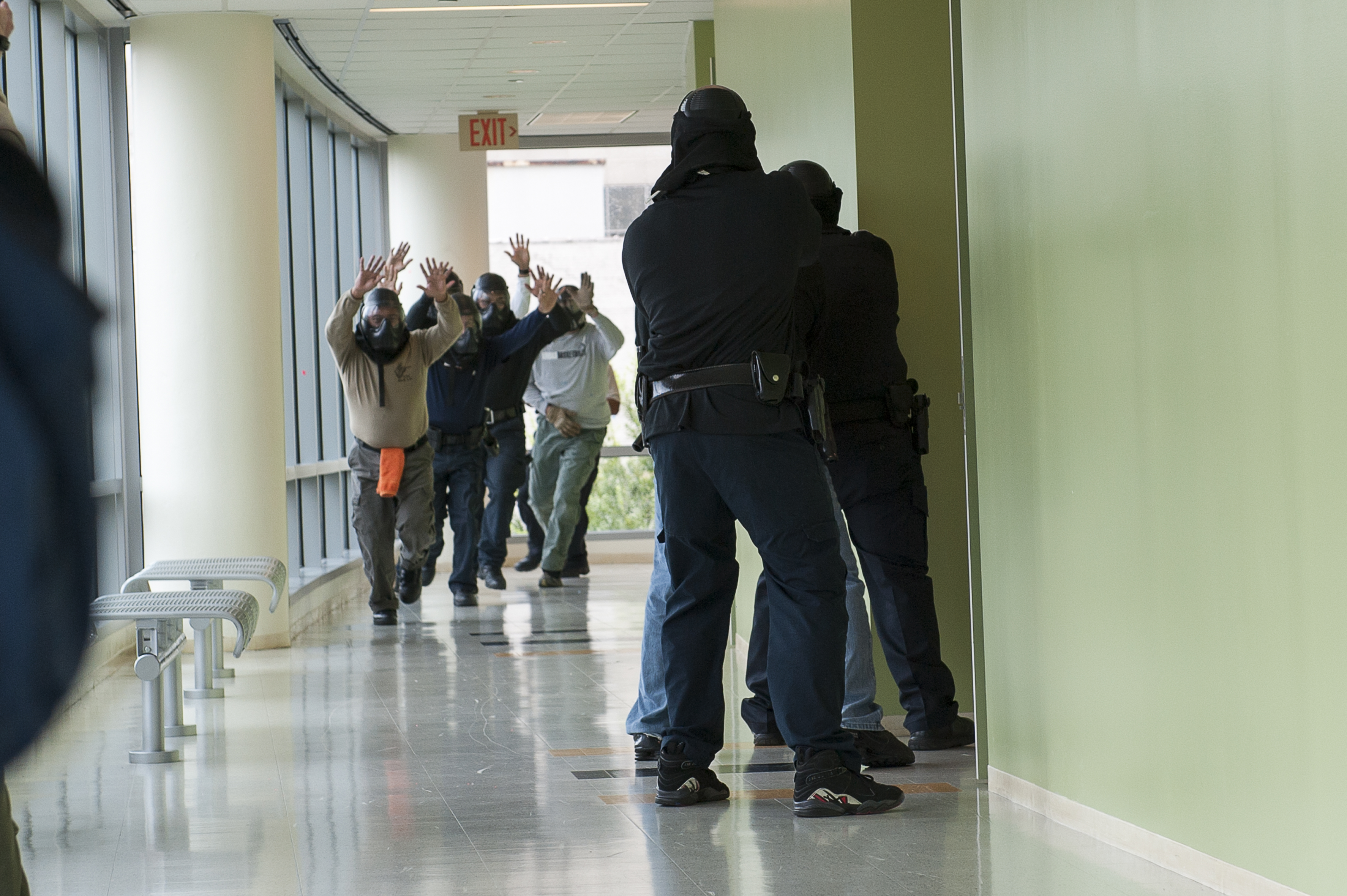 Active Shooter Training at UHD.August 20, 2013