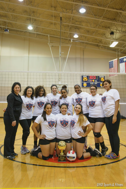 UHD Women's Volleyball Club Team; LSSCC Champs Fall 2014