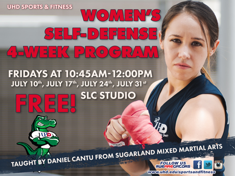 Women's Self Defense Four-Week Program Fridays, 10:45 a.m. to noon beginning July 10 SLC Studio Free