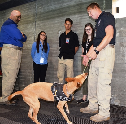 Interns with the TSA